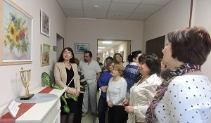 Wool painting is exhibited for the first time in ICF «Jewish Hesed «Bnei Azriel»